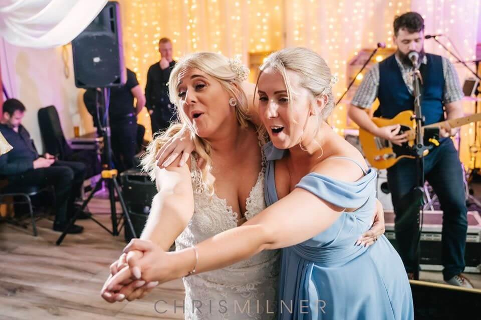 Enjoying dancing at an evening reception